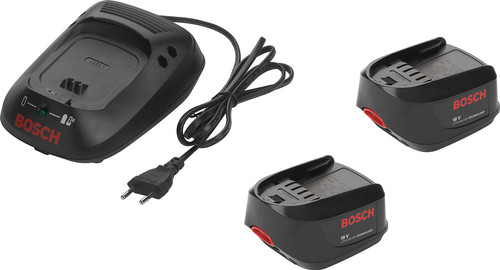 Bosch 18V 1.3-Ah Li-Ion Battery (2x) + Battery Charger Main Image