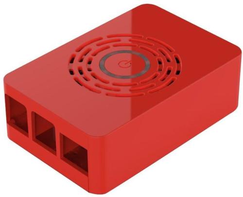 Multicomp Pro Raspberry Pi 4 behuizing - Power knop - Rood Main Image