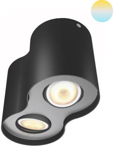 Philips Hue Pillar 2 Spots Noir avec variateur Main Image