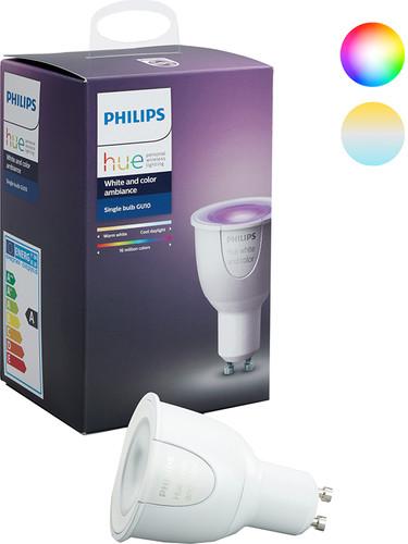 Philips Hue White and Color GU10 Losse Lamp Main Image