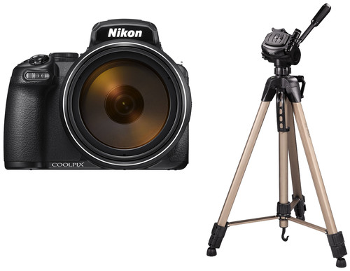 Nikon COOLPIX P1000 + Hama Star 63 Statief Main Image