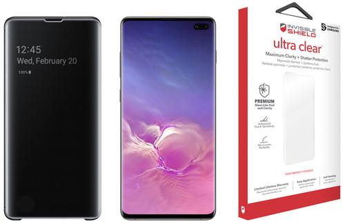 Samsung Galaxy S10 Plus 128 GB Zwart + Beschermingspakket Main Image