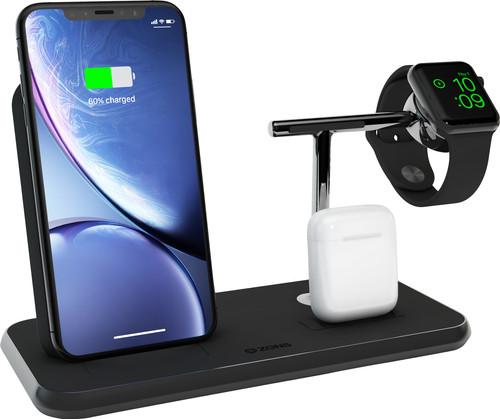 ZENS Draadloze Oplader 10W met Standaard en AirPods Dock + Watch Stand Zwart Main Image