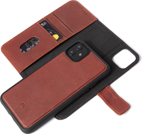 Decoded 2-in-1 Apple iPhone 11 Book Case Leather Brown Main Image