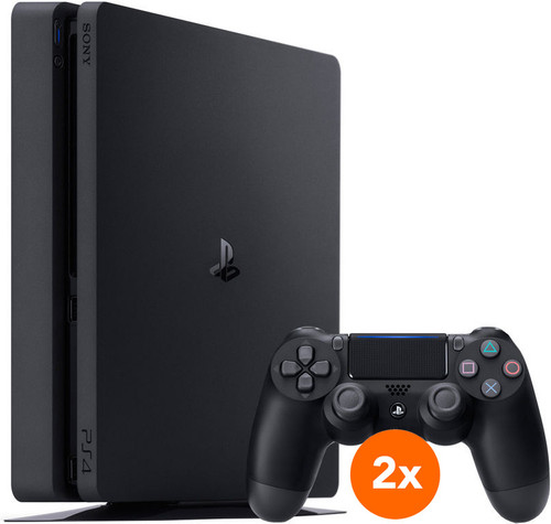 Sony PlayStation 4 Slim 500 GB + 2 Dualshock Controllers Main Image
