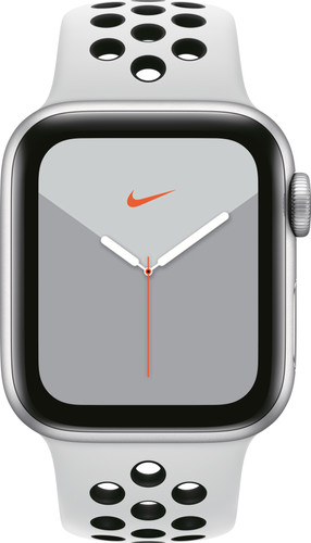 Apple Watch Nike Series 5 40mm Zilver Aluminium / Witte Sportband Main Image