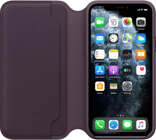 Apple iPhone 11 Pro Folio Cuir Aubergine Main Image