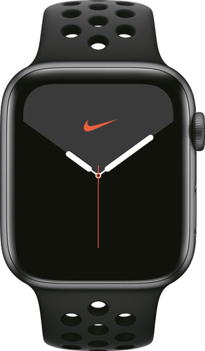 Apple Watch Nike Series 5 44 mm Aluminium Gris sidéral/Bracelet Sport Noir Main Image
