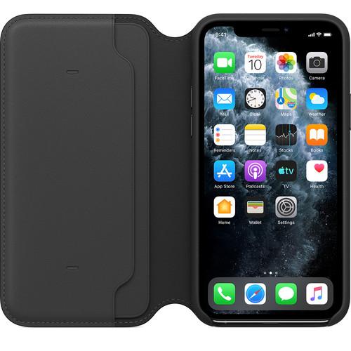 Apple iPhone 11 Pro Max Leather Folio Zwart Main Image