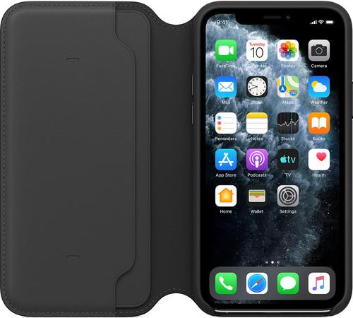 Apple iPhone 11 Pro Leather Folio Zwart Main Image
