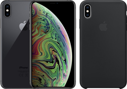 Apple iPhone Xs 64GB Space Gray + Silicon Back Cover Main Image