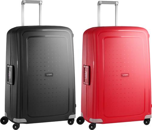 Samsonite S'Cure Spinner 75cm Black + 75cm Crimson Red kofferset Main Image