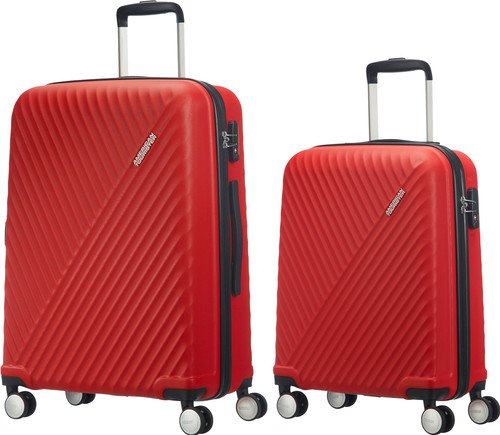 American Tourister Visby Spinner 55cm Red + 76cm Red kofferset Main Image