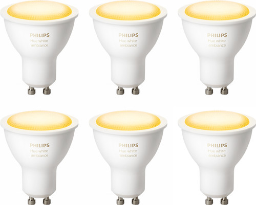 Philips Hue White Ambiance GU10 Bluetooth 6-Pack Main Image