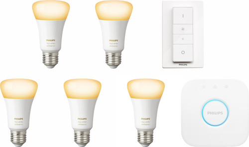 Philips Hue White Ambiance E27 Kit de démarrage - 5 ampoules Main Image