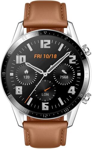 Huawei Watch GT 2 Zilver/Bruin 46mm Main Image