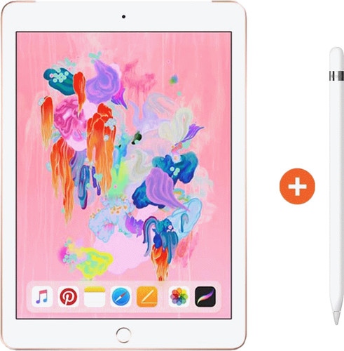 Apple iPad (2018) 128GB WiFi Gold + Apple Pencil Main Image