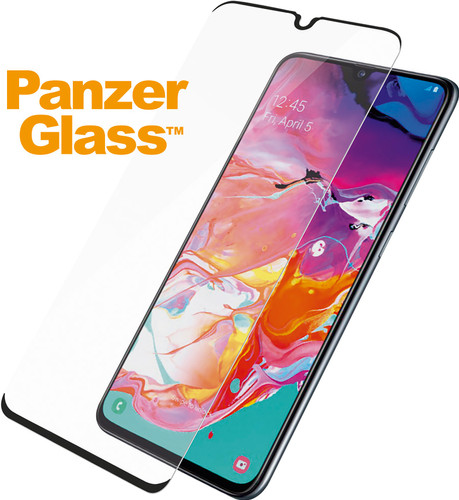 PanzerGlass Protège-écran Case Friendly Samsung Galaxy A70 Verre Noir Main Image