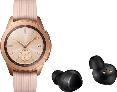 Samsung Galaxy Watch 42 mm Rose Gold + Samsung Galaxy Buds Zwart Main Image