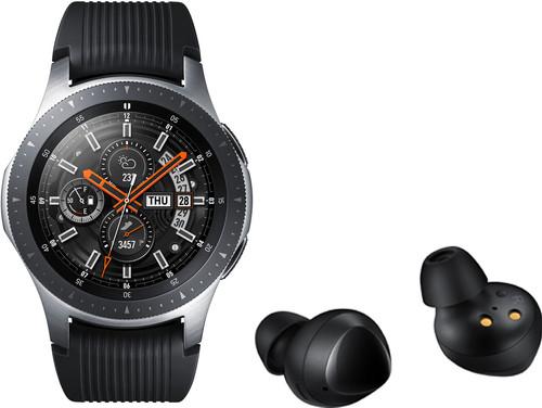 Samsung Galaxy Watch 46 mm Silver + Samsung Galaxy Buds Zwart Main Image