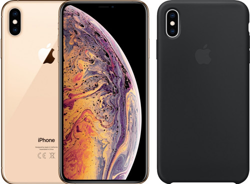 Apple iPhone Xs 256 GB Goud + Silicone Back Cover Main Image