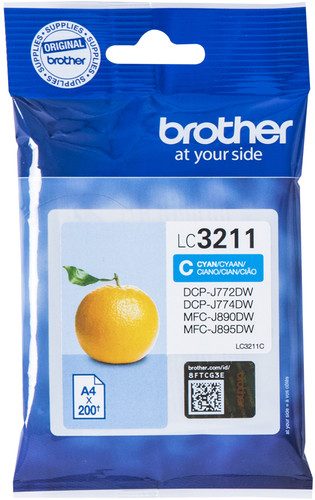 Brother LC-3211 Cartouche Cyan Main Image