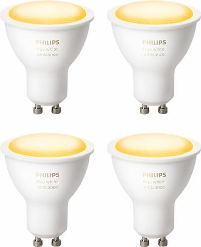 Philips Hue White Ambiance GU10 Bluetooth Lot de 4 Main Image