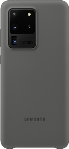 Samsung Galaxy S20 Ultra Silicone Back Cover Grijs Main Image