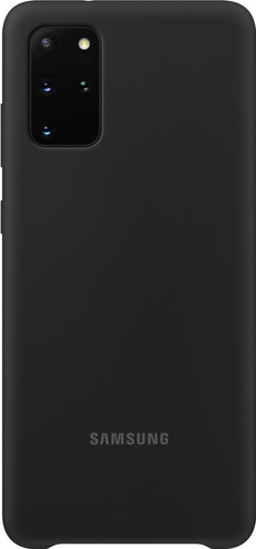 Samsung Galaxy S20 Plus Silicone Back Cover Zwart Main Image