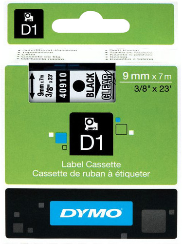 Dymo D1 Name Labels Black/White (9mm x 7m) Main Image