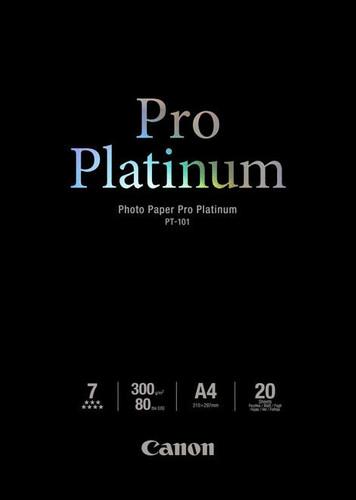 Canon PT-101 Pro Platinum Papier photo 20 Feuilles A4 Main Image