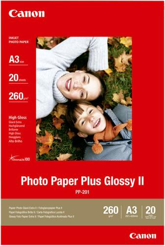 Canon PP-201 Papier photo brillant Plus 20 feuilles A3 Main Image