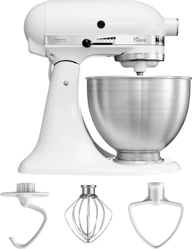 Kitchenaid Classic Mixer 5k45ssewh White Coolblue Before 23 59 Delivered Tomorrow