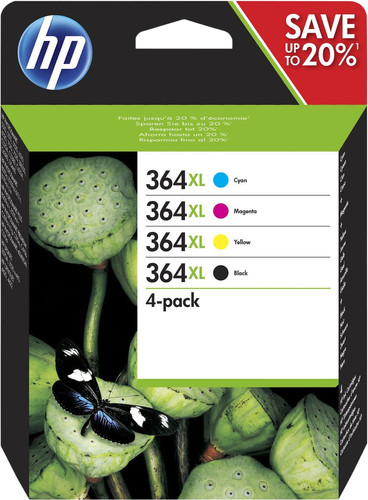 HP 364XL Combo Pack 4 Colors (N9J74AE) Main Image