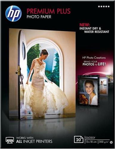 HP Premium Plus Papier photo Brillant 20 feuilles (13 x 18) Main Image