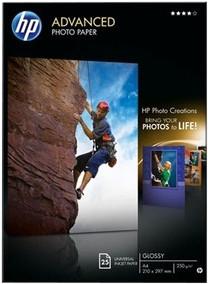 HP Advanced Glossy Fotopapier 25 vel (A4) Main Image