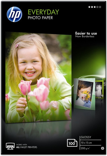 HP Everyday Glossy Fotopapier 100 Vel (10 x 15) Main Image