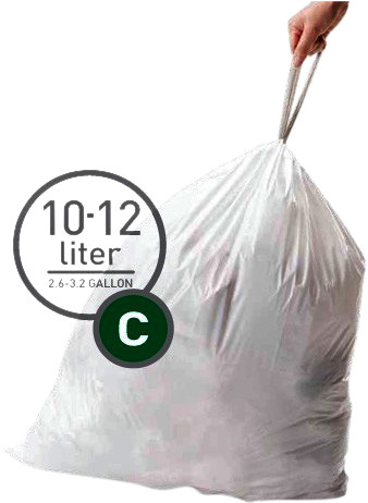 Simplehuman Trash Bags Code C - 10 to 12 Liters (20 units) Main Image
