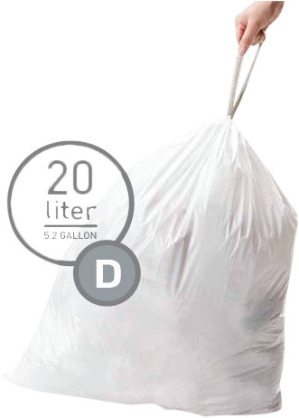 Simplehuman Waste bags Code D - 20 Liter (20 pieces) Main Image