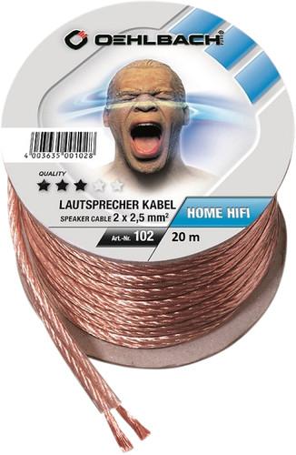 Oehlbach Loudspeaker cable (2 x 2.5 mm) 20 meters Main Image