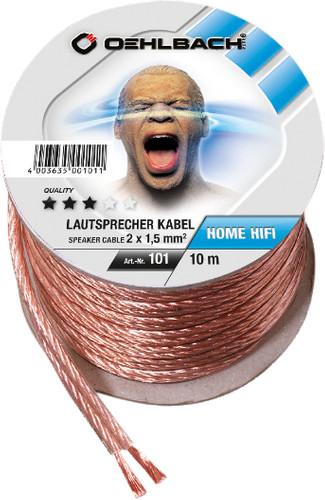 Oehlbach Loudspeaker cable (2 x 1.5 mm) 10 meters Main Image