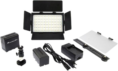 Falcon Eyes LED Lamp Set Dimmable DV-216VC-K2 incl. Battery Main Image