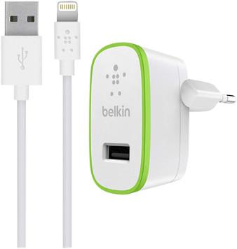 Belkin Chargeur domestique 2,4 A avec câble Lightning Main Image