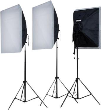 Falcon Eyes Continuous Light Set LH-ESB5050K3 3x55W Main Image