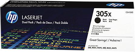 HP 305X Toner Noir Dual Pack (CE410XD) Main Image