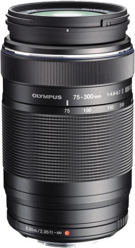 Olympus M.Zuiko Digital ED 75-300mm f/4.8-6.7 II Zwart Main Image