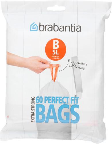 Brabantia Garbage bags Code B - 5 Liter (60 pieces) Main Image