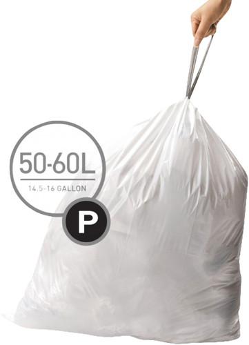 Simplehuman Waste bags Code P - 50-60 Liter (20 pieces) Main Image