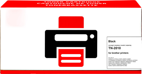 Tweedekans Pixeljet TN-2010 Toner Zwart voor Brother printers (TN-2010) Main Image