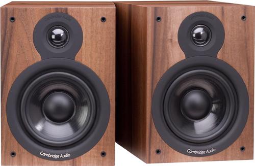 Walnut Cambridge Audio SX-50 Bookshelf Speakers Pair with 2-Way Crossover